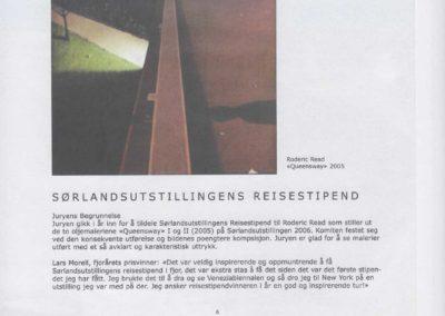 Roderic Graeme Read Sørlandsustillingens Reisestipend Travel Award